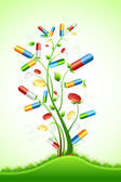 Medical Pill Tree — Stock Vector