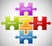 Business pussel — Stockvektor