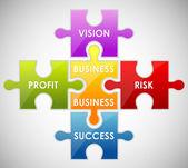 Puzzle di affari — Vettoriale Stock