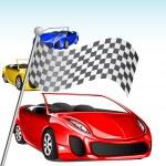 Car Racing — Stock Vector