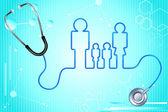 Family Health Insurance — Stock Vector