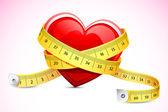 Sağlıklı kalp — Stok Vektör