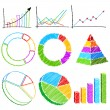 Different Financial Graph - Stock Vector