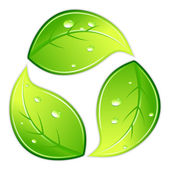 Leafy Recycle Symbol — Stock Vector