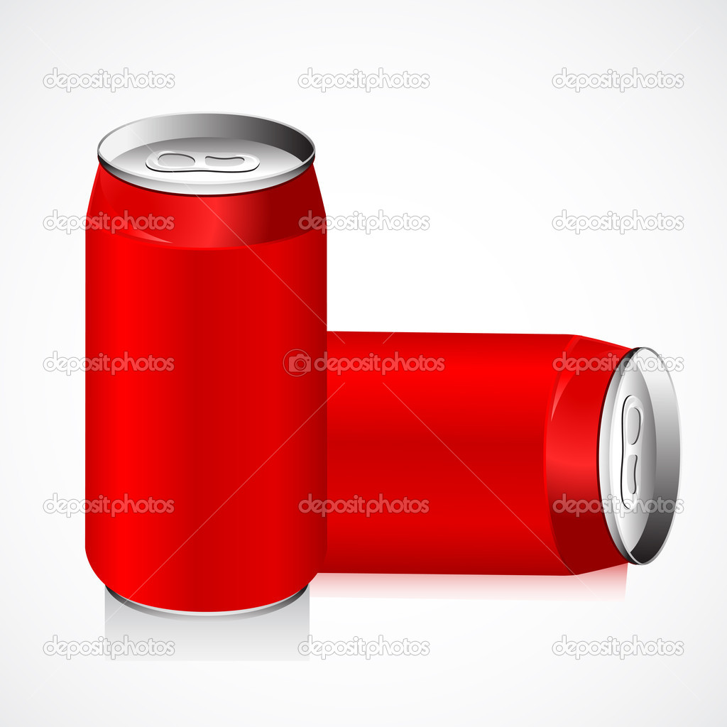 Illustration of empty drink can on abstract background  Stock Vector #6270429