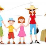 Family in Trip — Stock Vector