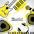 Stock Vector: Music Background