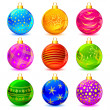 Colorful Christmas Ball — Stock Vector