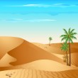 Lonely Desert — Stock Vector #6401921