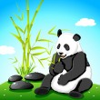 Panda eating Bamboo - Stock Vector