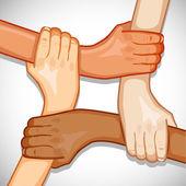 Mains pour l'unité — Vecteur