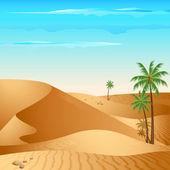 Lonely Desert — Stock Vector