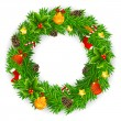 Christmas Wreath - Stock Vector