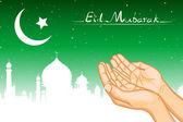 Praying for Eid — Stock Vector