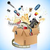 Entertainment Box — Stock Vector