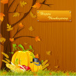 Royalty-Free Stock Векторное изображение: Thanksgiving Background
