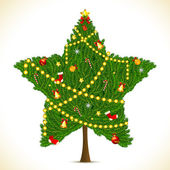 Star shape Christmas Tree — Stock Vector