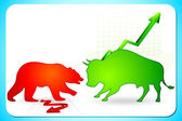 Bullish and Bearish market — Stock Vector