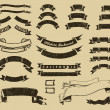 Vector de stock : Vintage ribbons set