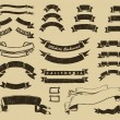 Stockvector : Vintage ribbons set