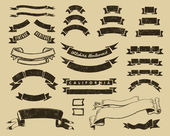 Conjunto de cintas vintage — Vector de stock