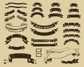 Vintage linten set — Stockvector