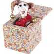 Stock Photo: Jack-in-the-box toy