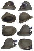 Tirol hat collection — Stock Photo