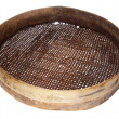 Old wooden sieve — Stock Photo