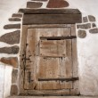 Ancient wooden door - Stock Photo