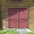 Stock Photo: Old wooden barn door
