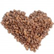 Heart of coffee beans - Stok fotoğraf