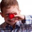 Stock Photo: Little boy with clown nose