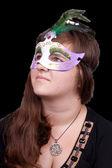 威尼斯面具的女孩 — 图库照片