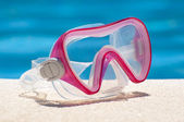Pink goggles — Stock Photo