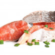 Raw salmon — Stock Photo #5492147