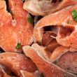 Chopped pieces of red fish — Stock Photo #5647039