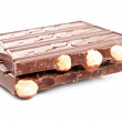Bar of chocolate with nuts — Stock Photo