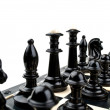 Stock Photo: Black chess on board