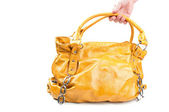 Fashion yellow bag — Stock Photo