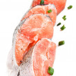 Raw salmon — Stock Photo #5802245