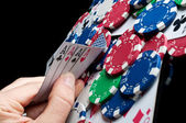 Four aces in poker — Stock Photo
