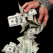 Hands with dollars in chain — Stock Photo #5995368