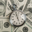 American dollars and stopwatch — Stock Photo