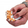 Stock Photo: Man hands with cigarette