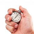 Stock Photo: Hand with stopwatch