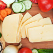 Fresh vegetables and cheese — Stock Photo