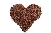 Roasted coffee heart — Stock Photo