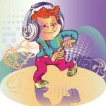 Boy dancing — Stock Vector #5449400