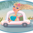 Summer Blonde by the sea. — Stock Vector #5887860